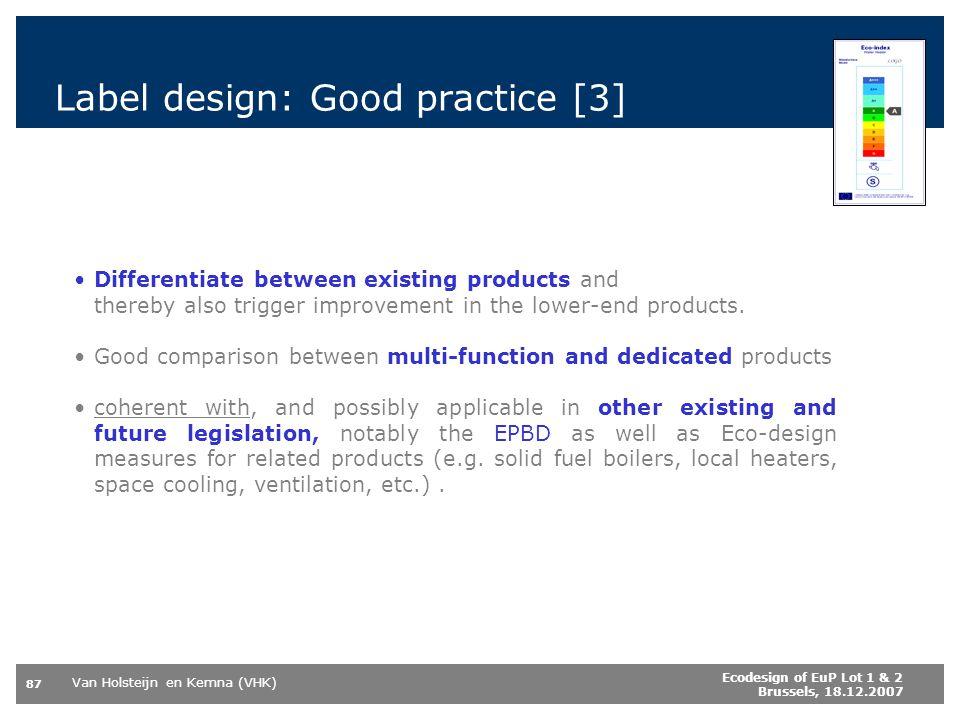 Label design: Good practice [3]